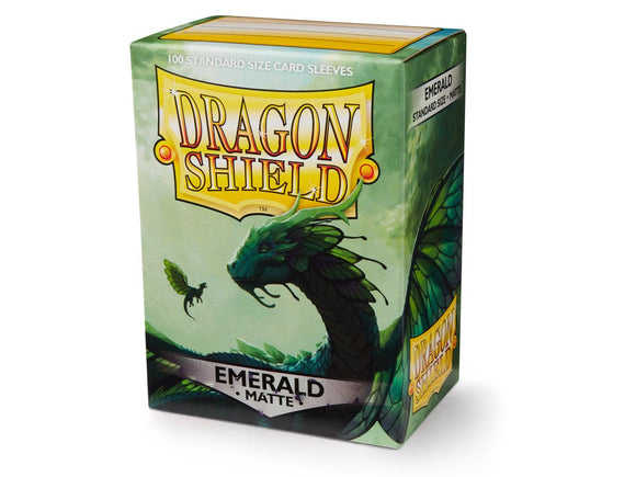 Dragon Shield Matte Emerald - 100 Standard Size Sleeves