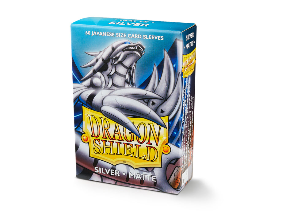 Dragon Shield Matte Sliver - 60 Japanese Size Sleeves-Arcane Tinmen-Athena Games Ltd