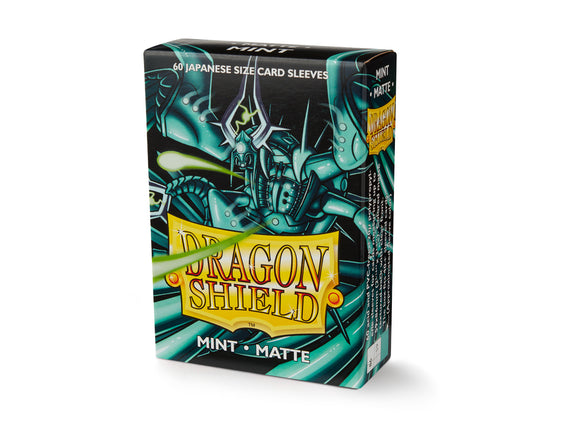 Dragon Shield Matte Mint - 60 Japanese Size Sleeves