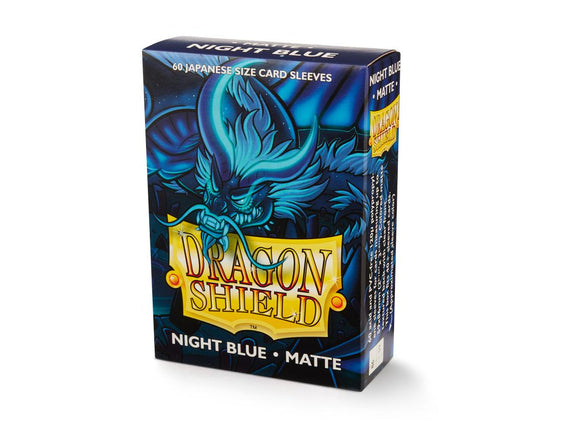 Dragon Shield Matte Night Blue - 60 Japanese Size Sleeves
