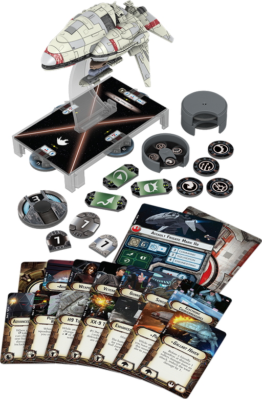 Star Wars Armada Assault Frigate Mark II Expansion Pack - Contents Spread