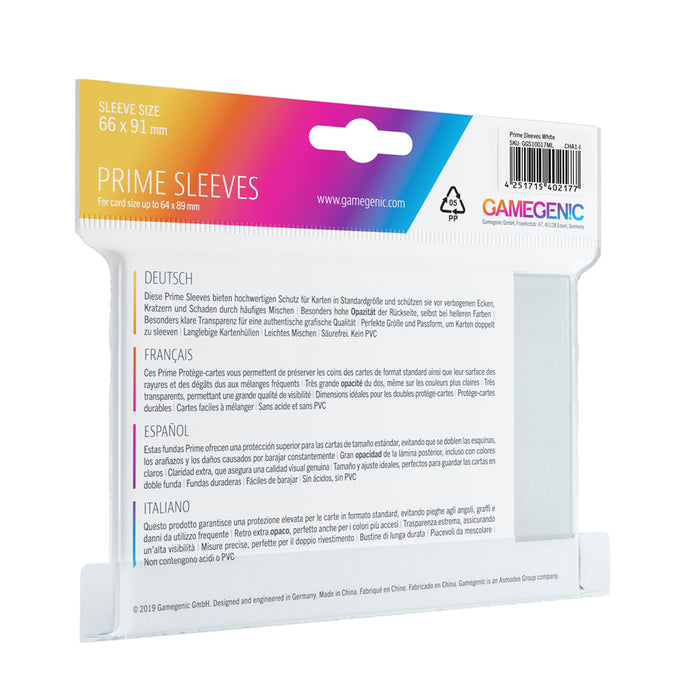 Gamegenic Prime Sleeves White (100 ct.)