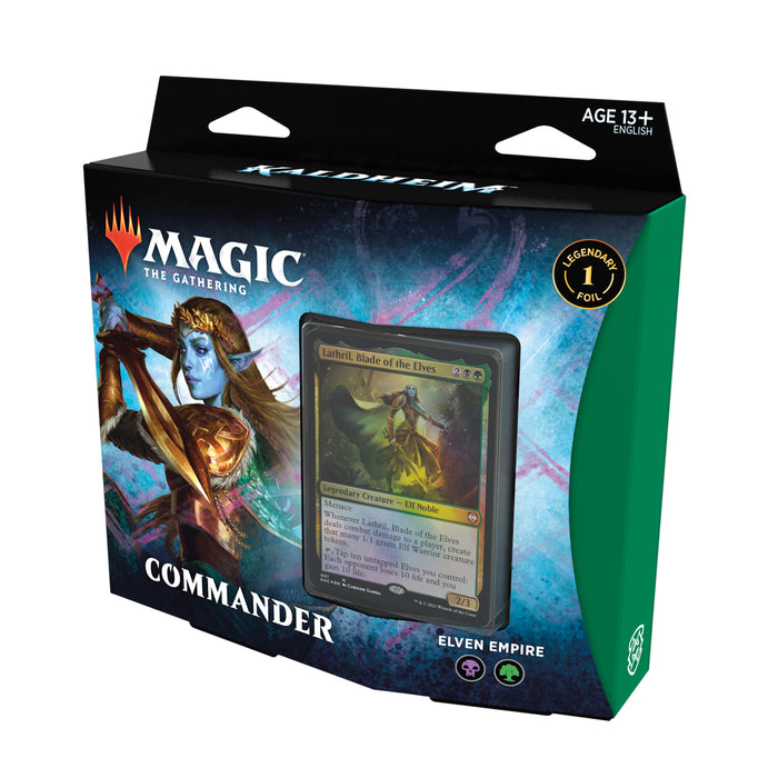 Magic: The Gathering Kaldheim Commander Deck – Elven Empire | 100 Card Ready-to-Play Deck | Green-Black