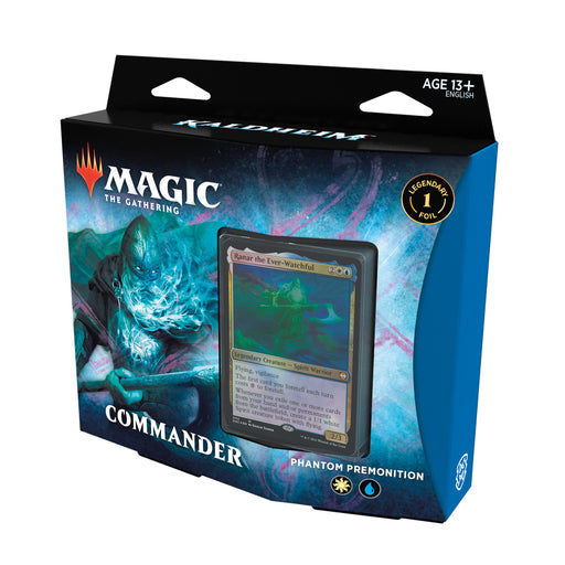 Magic: The Gathering Kaldheim Commander Deck – Phantom Premonition | 100 Card Ready-to-Play Deck | Blue-White-Wizards Of The Coast-Athena Games Ltd