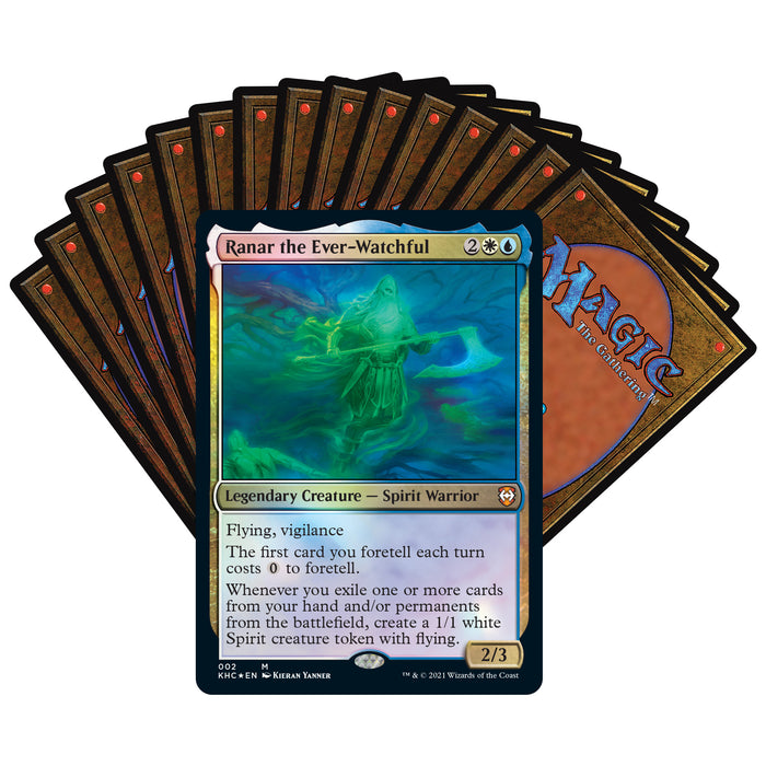 Magic: The Gathering Kaldheim Commander Deck – Phantom Premonition | 100 Card Ready-to-Play Deck | Blue-White