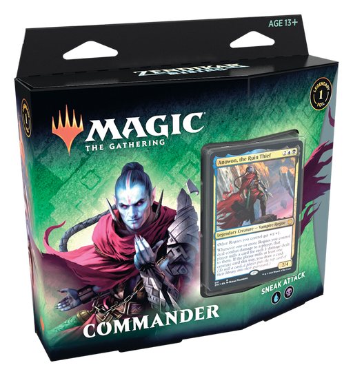 Magic The Gathering Zendikar Rising Commander Deck Sneak Attack