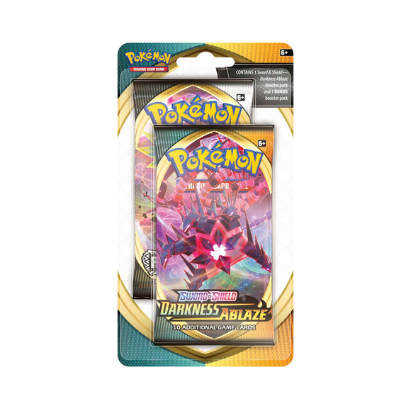 Pokemon Sword & Shield Darkness Ablaze Celebration 2-Pack Blister