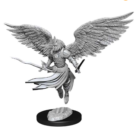 Magic the Gathering Unpainted Miniatures: Aurelia, Exemplar of Justice (Angel)-Wizkids-Athena Games Ltd
