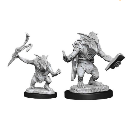 Magic the Gathering Unpainted Miniatures: Goblin Guide & Goblin Bushwhacker