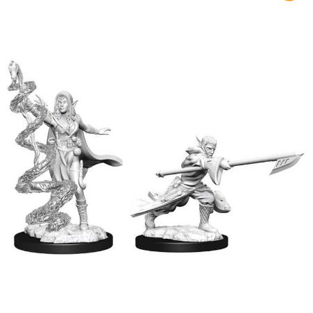 Magic the Gathering Unpainted Miniatures: Joraga Warcaller & Joraga Treespeaker (Elves)-Wizkids-Athena Games Ltd