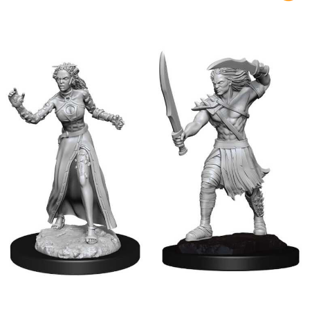 Magic the Gathering Unpainted Miniatures: Vampire Lacerator & Vampire Hexmage