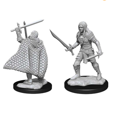 Pathfinder Deepcuts: Elf Fighter Male-Wizkids-Athena Games Ltd