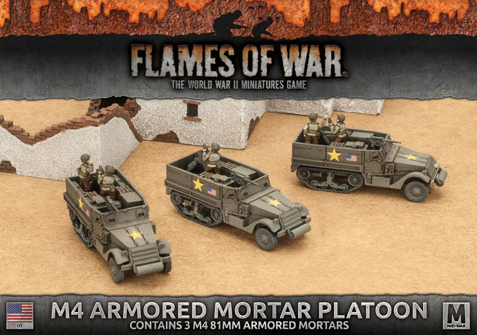 M4 Armored Mortar Platoon - Flames Of War