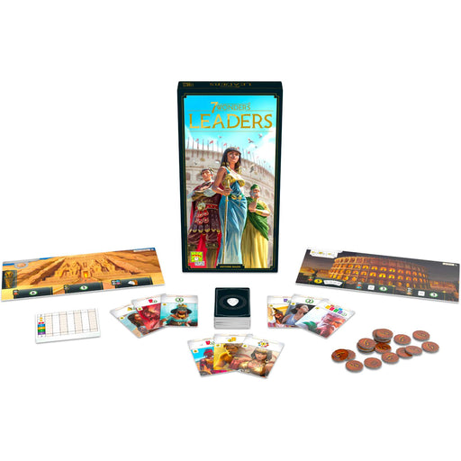 7 Wonders 2nd Edition Leaders Expansion - Product Spread