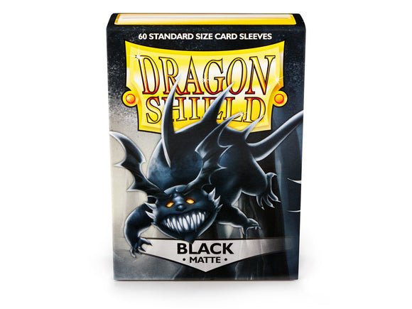 Dragon Shield Matte Black - 60 Standard Size Sleeves