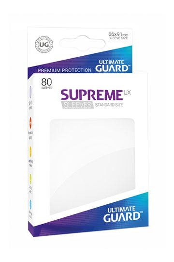 Ultimate Guard Supreme UX Sleeves Standard Size White (80)