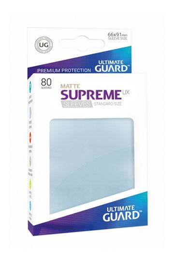 Ultimate Guard Supreme UX Sleeves Standard Size Matte Transparent (80)
