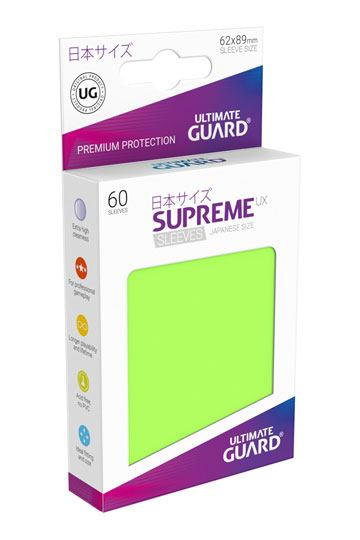 Ultimate Guard Supreme UX Sleeves Japanese Size Light Green (60)