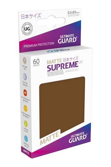 Ultimate Guard Supreme UX Sleeves Japanese Size Matte Brown (60)
