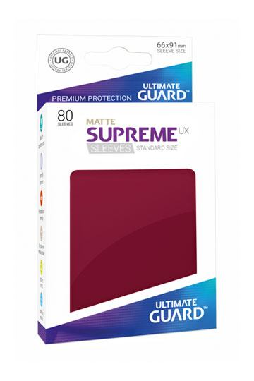 Ultimate Guard Supreme UX Sleeves Standard Size Matte Burgundy (80)-Ultimate Guard-Athena Games Ltd