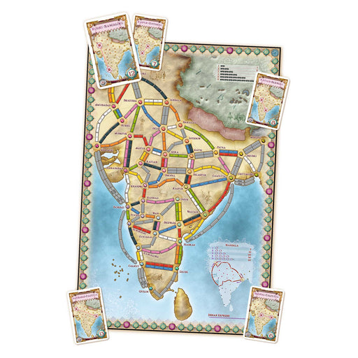 Ticket To Ride India Map Collection - India Map