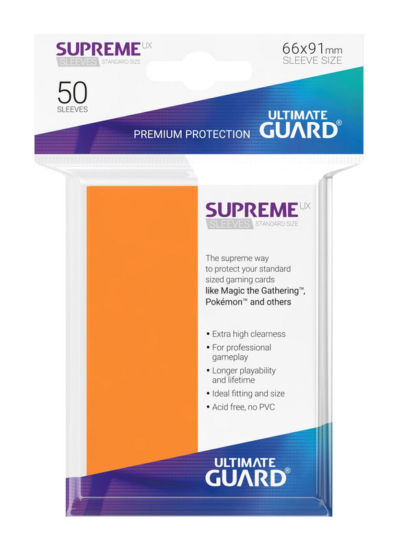 Ultimate Guard Supreme UX Sleeves Standard Size Orange (50)