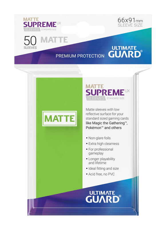 Ultimate Guard Supreme UX Sleeves Standard Size Matte Light Green (50)