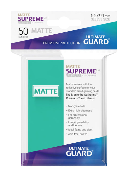 Ultimate Guard Supreme UX Sleeves Standard Size Matte Turquoise (50)