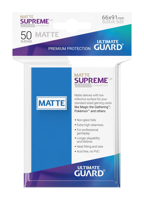 Ultimate Guard Supreme UX Sleeves Standard Size Matte Royal Blue (50)