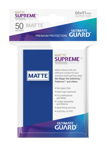 Ultimate Guard Supreme UX Sleeves Standard Size Matte Blue (50)