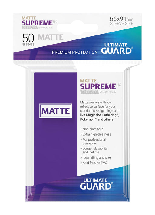 Ultimate Guard Supreme UX Sleeves Standard Size Matte Purple (50)