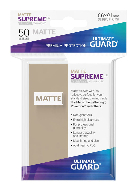 Ultimate Guard Supreme UX Sleeves Standard Size Matte Sand (50)