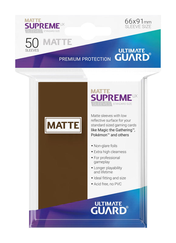 Ultimate Guard Supreme UX Sleeves Standard Size Matte Brown (50)