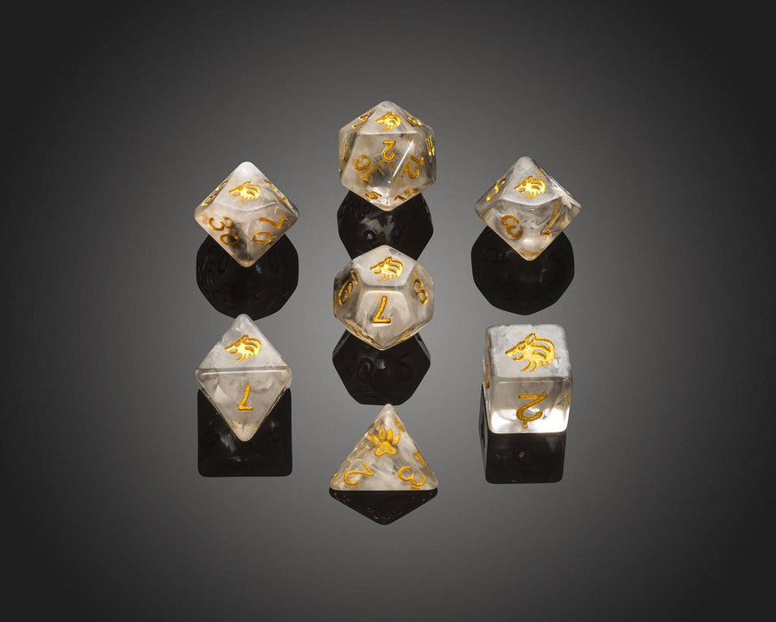 Set of 7 'Spirit Of' Wolf Dice-Critit-Athena Games Ltd
