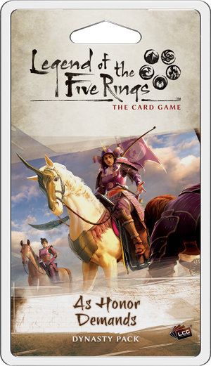 As Honor Demands - Legend of the Five Rings Dynasty Pack-Fantasy Flight Games-Athena Games Ltd