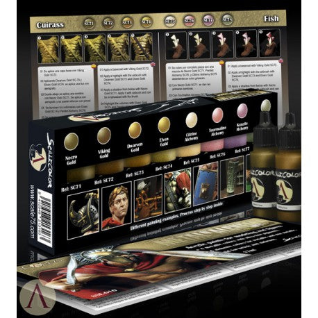 Metal N Alchemy Golden Series Paint Set - Scale75