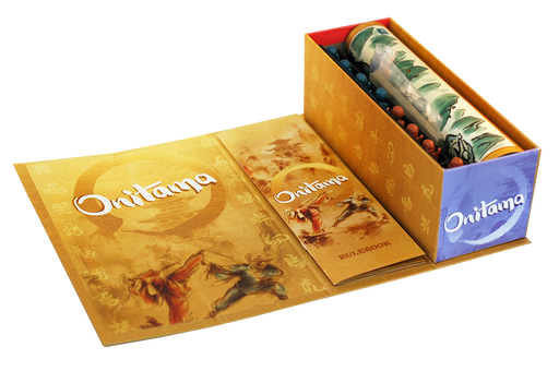 Onitama Box Open Showing Contents