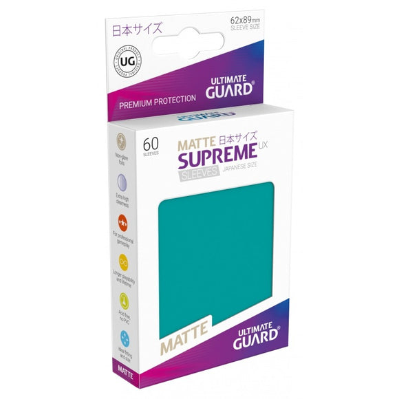 Ultimate Guard Supreme UX Sleeves Japanese Size Matte Petrol (60)