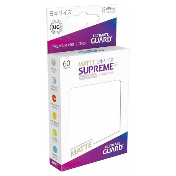 Ultimate Guard Supreme UX Sleeves Japanese Size Matte White (60)