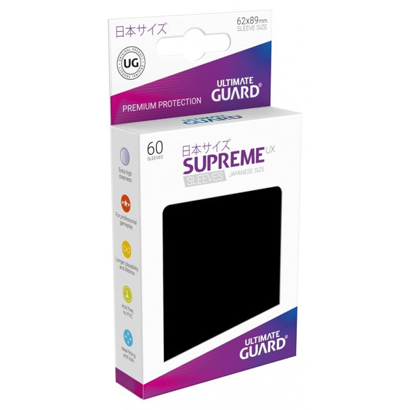 Ultimate Guard Supreme UX Sleeves Japanese Size Black (60)
