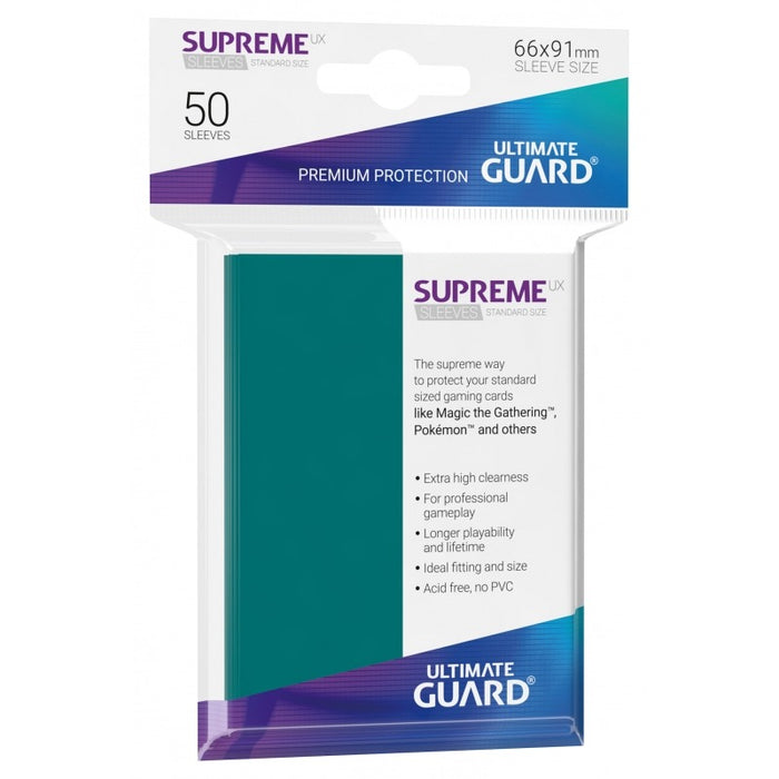 Ultimate Guard Supreme UX Sleeves Standard Size Petrol (50)