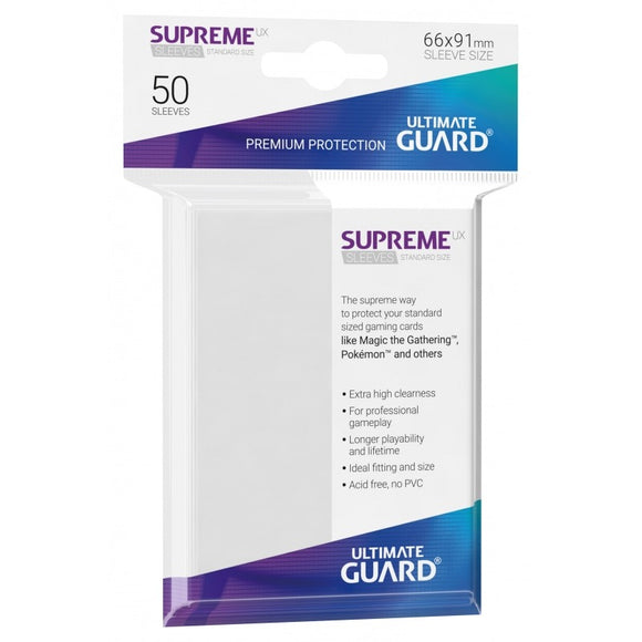 Ultimate Guard Supreme UX Sleeves Standard Size White (50)