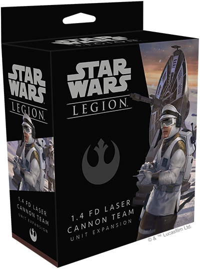 Star Wars Legion 1.4 FD Laser Cannon Team Packaging