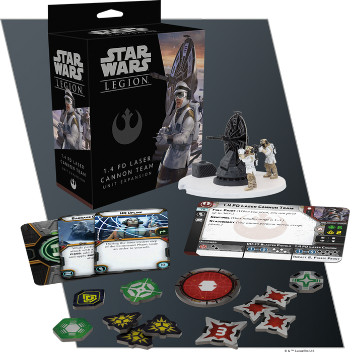 Star Wars Legion 1.4 FD Laser Cannon Team Contents
