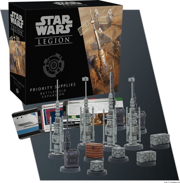 Star Wars Legion Priority Supplies Battlefield Expansion Contents Assembled and Painted