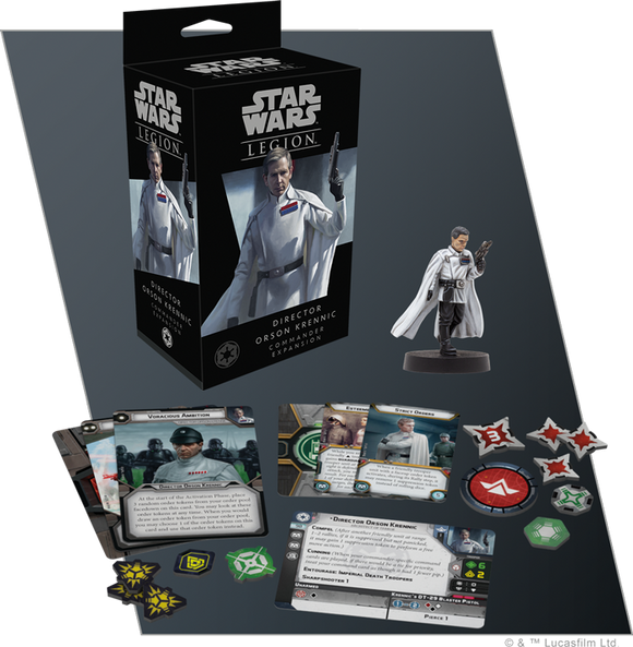 Star Wars Legion Director Orson Krennic Commander Expansion Contents Assembled and Painted