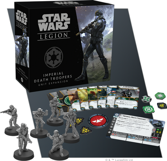 Star Wars Legion Imperial Death Troopers Unit Expansion Contents Assembled