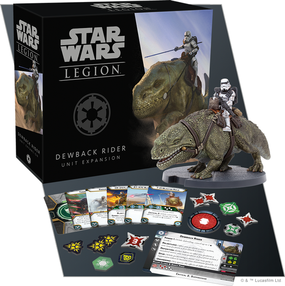 Star Wars Legion Dewback Rider Unit Expansion Contents Assembled and Painted