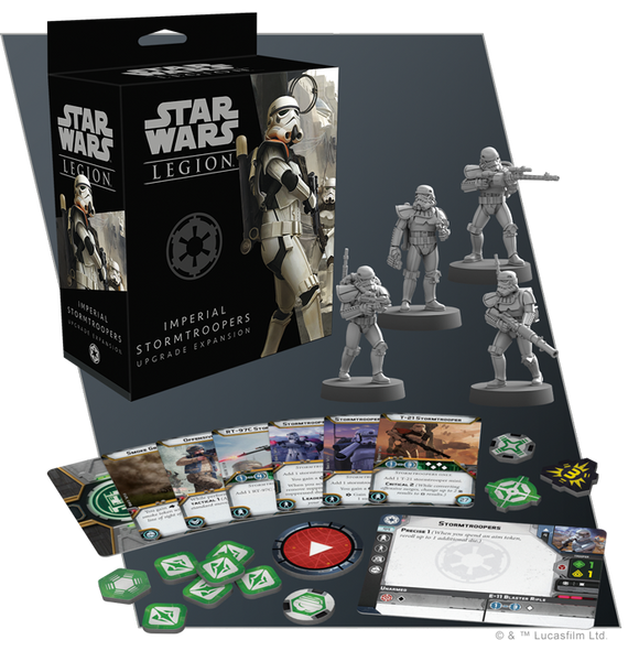 Star Wars Legion Stormtrooper Upgrade Expansion Contents Assembled