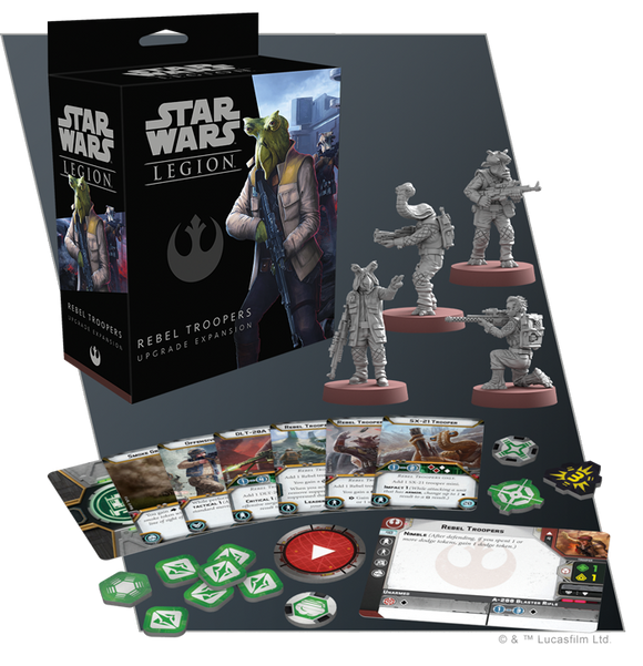 Star Wars Legion Rebel Trooper Upgrade Expansion Contents Assembled